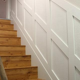 Basement Staircase Board and Batten