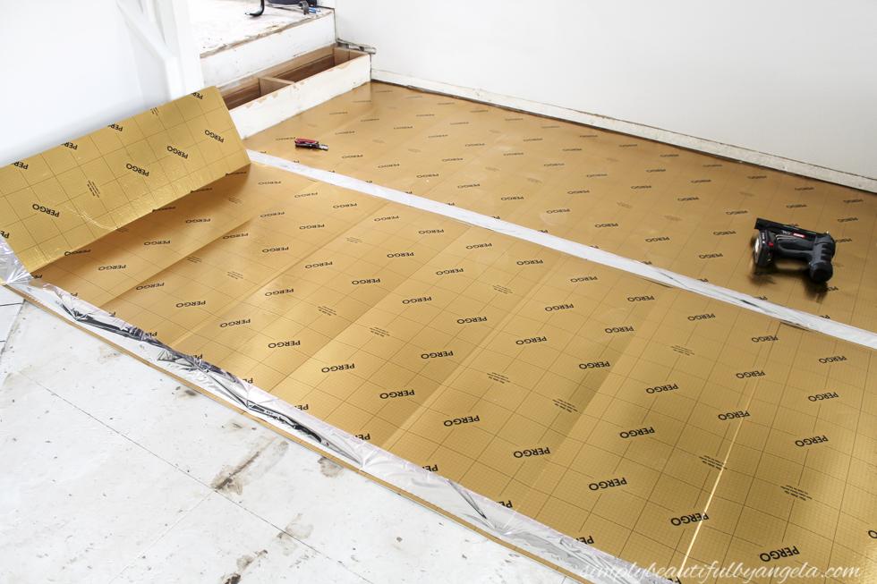 Diy Laminate Plank Flooring Installation Simply Beautiful By Angela
