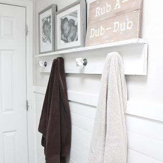 DIY Bathroom Shiplap