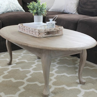 Coffee Table Faux Wood Makeover