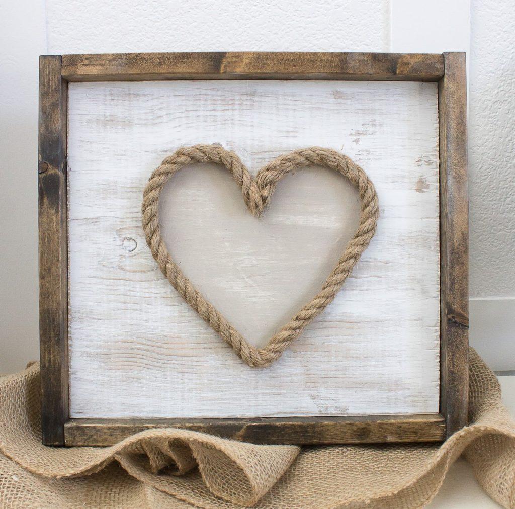DIY Rustic Valentine's Art