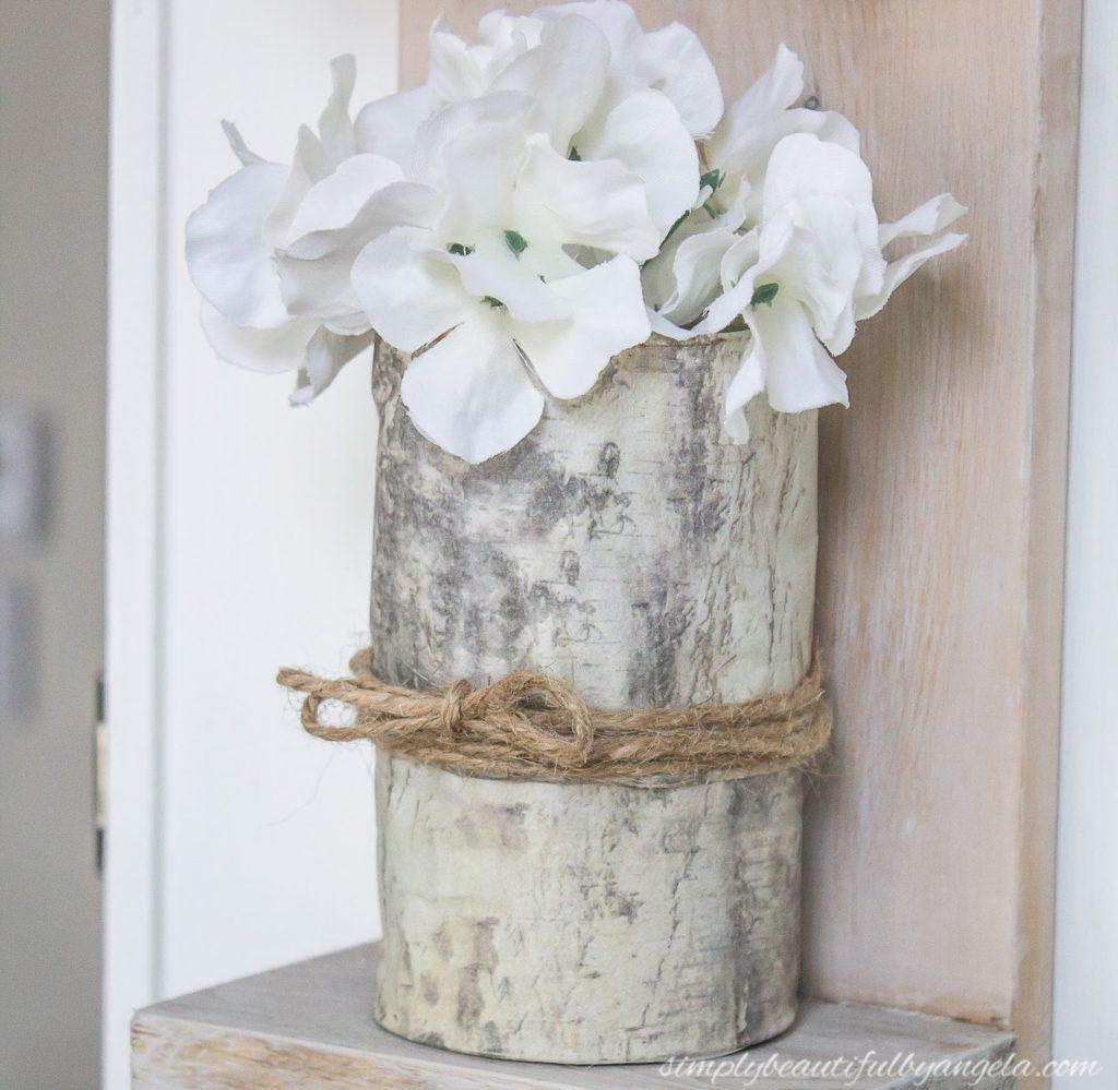 DIY Birch Vases