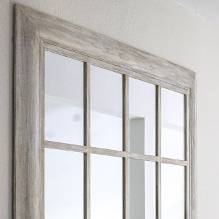 DIY Windowpane Mirror