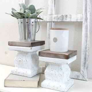 Thrifted Pedestals Makeover