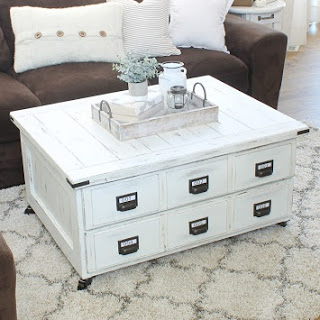 Dated Faux Card Catalog Coffee Table