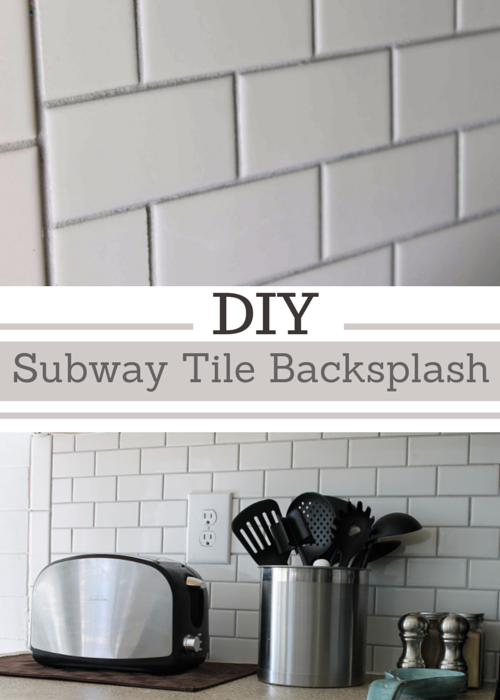 Diy Subway Tile Backsplash The Big Reveal Simply