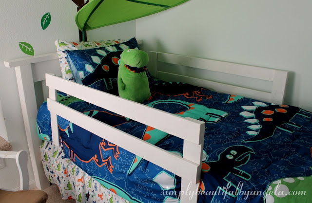 DIY Toddler Bed Rails | Simply Beautiful By Angela