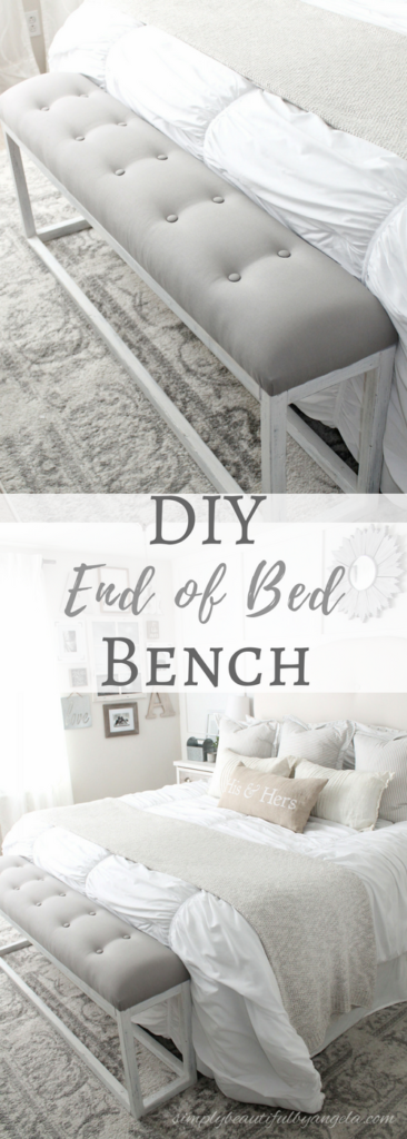 DIY Simple End of Bed Bench | Simply Beautiful By Angela