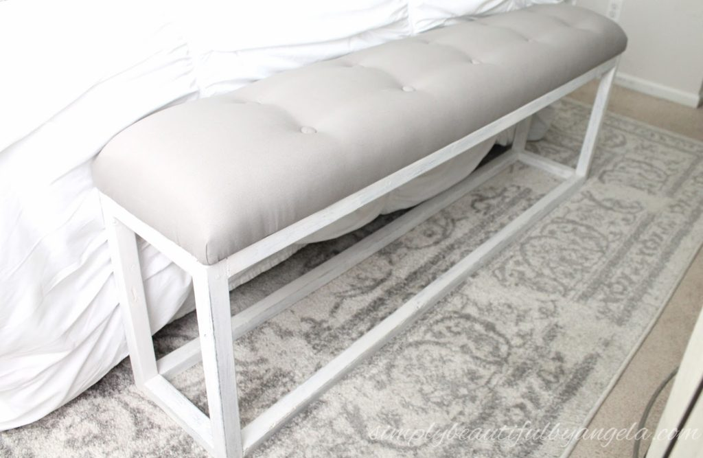 Diy Simple End Of Bed Bench Simply Beautiful By Angela