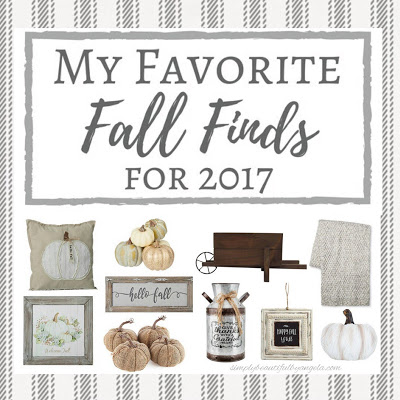 Favorite Fall Finds for 2017
