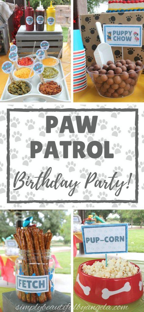 A Paw Patrol Birthday Party Simply Beautiful By Angela
