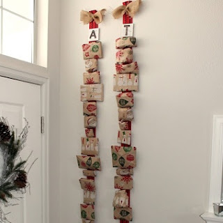 Christmas Ribbon Advent Calender