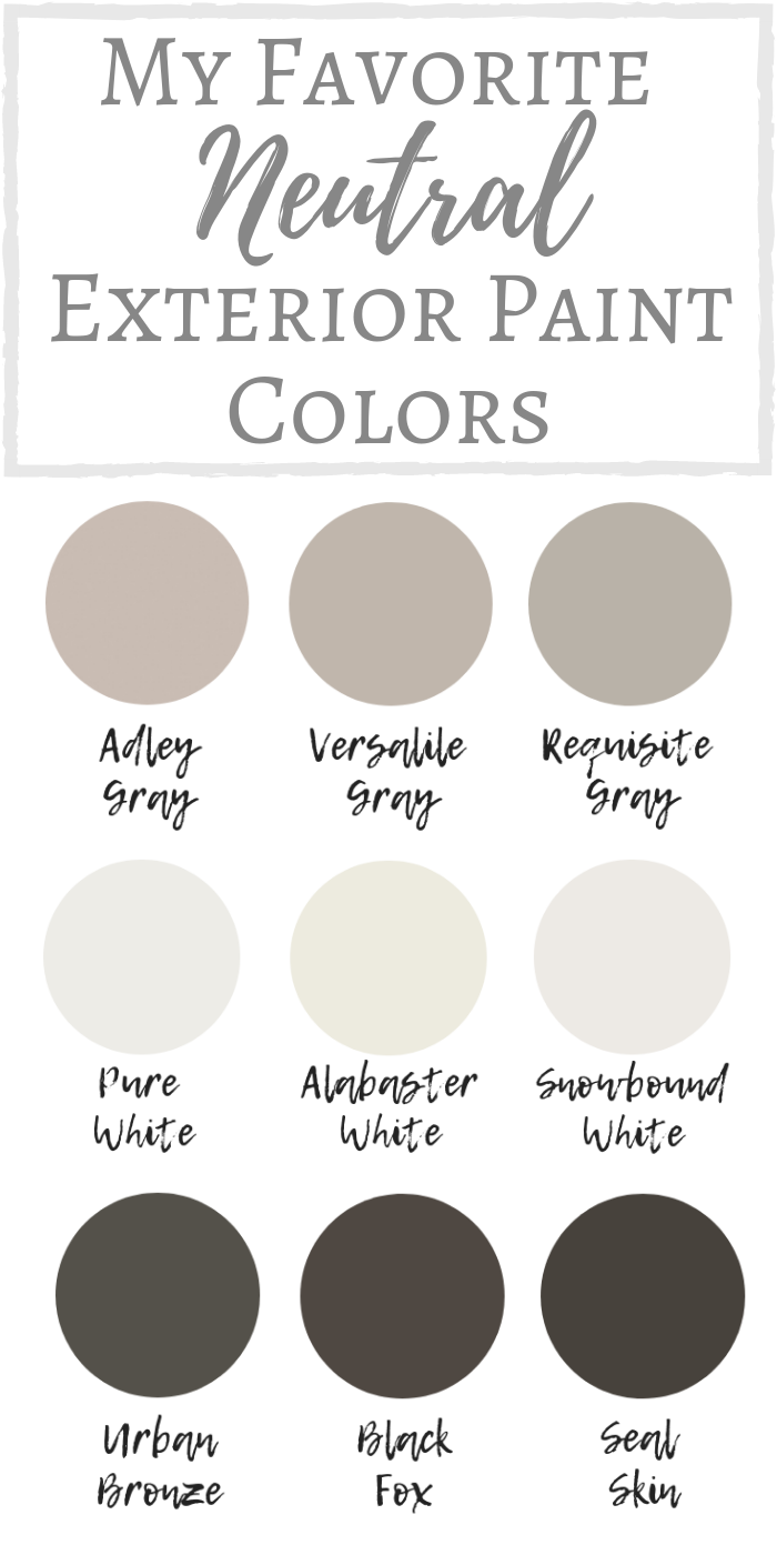 My Favorite Neutral Exterior Paint Colors | Simply ...
