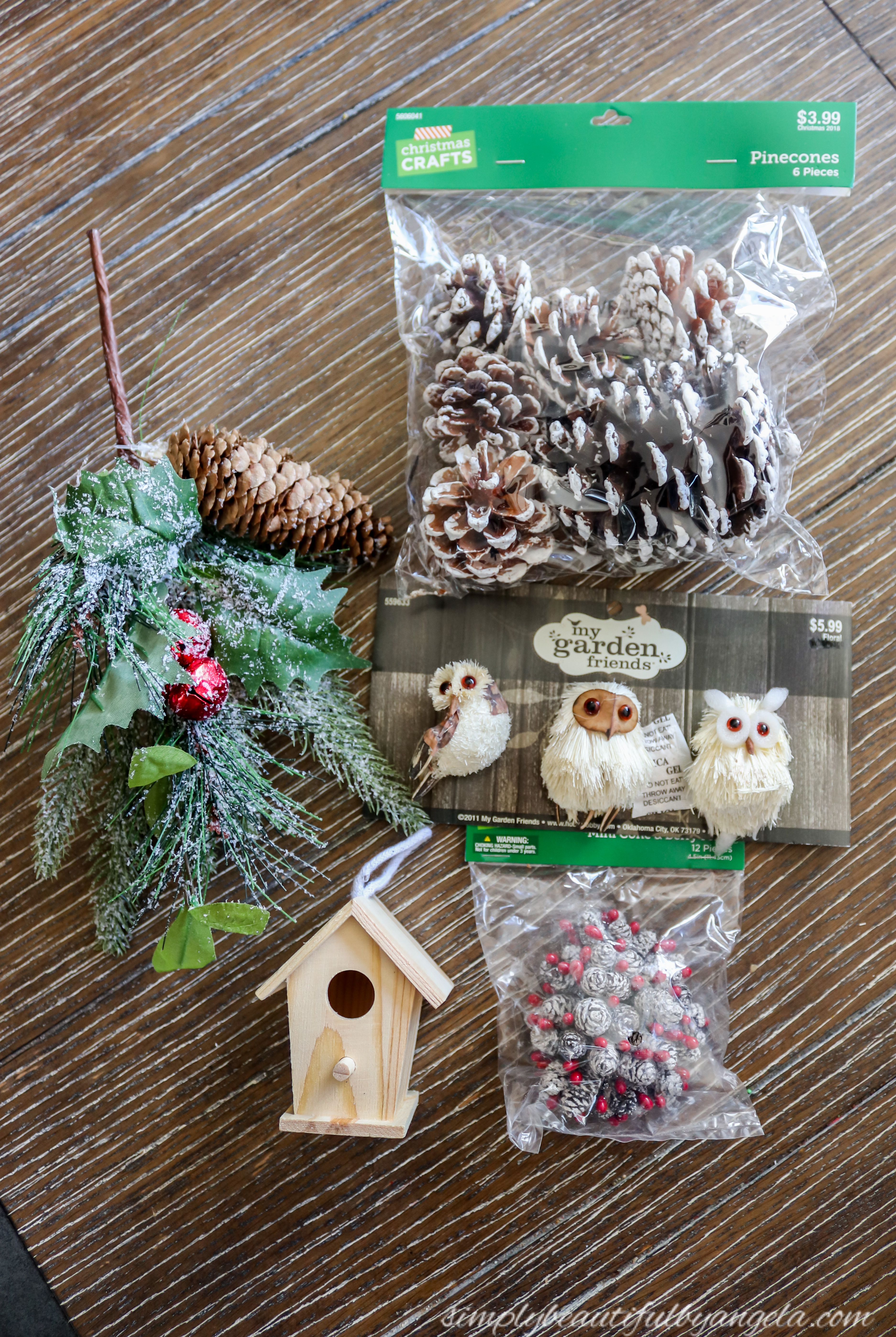 Christmas Birdhouses Crafts.Woodland Birdhouse Ornament Simply Beautiful By Angela