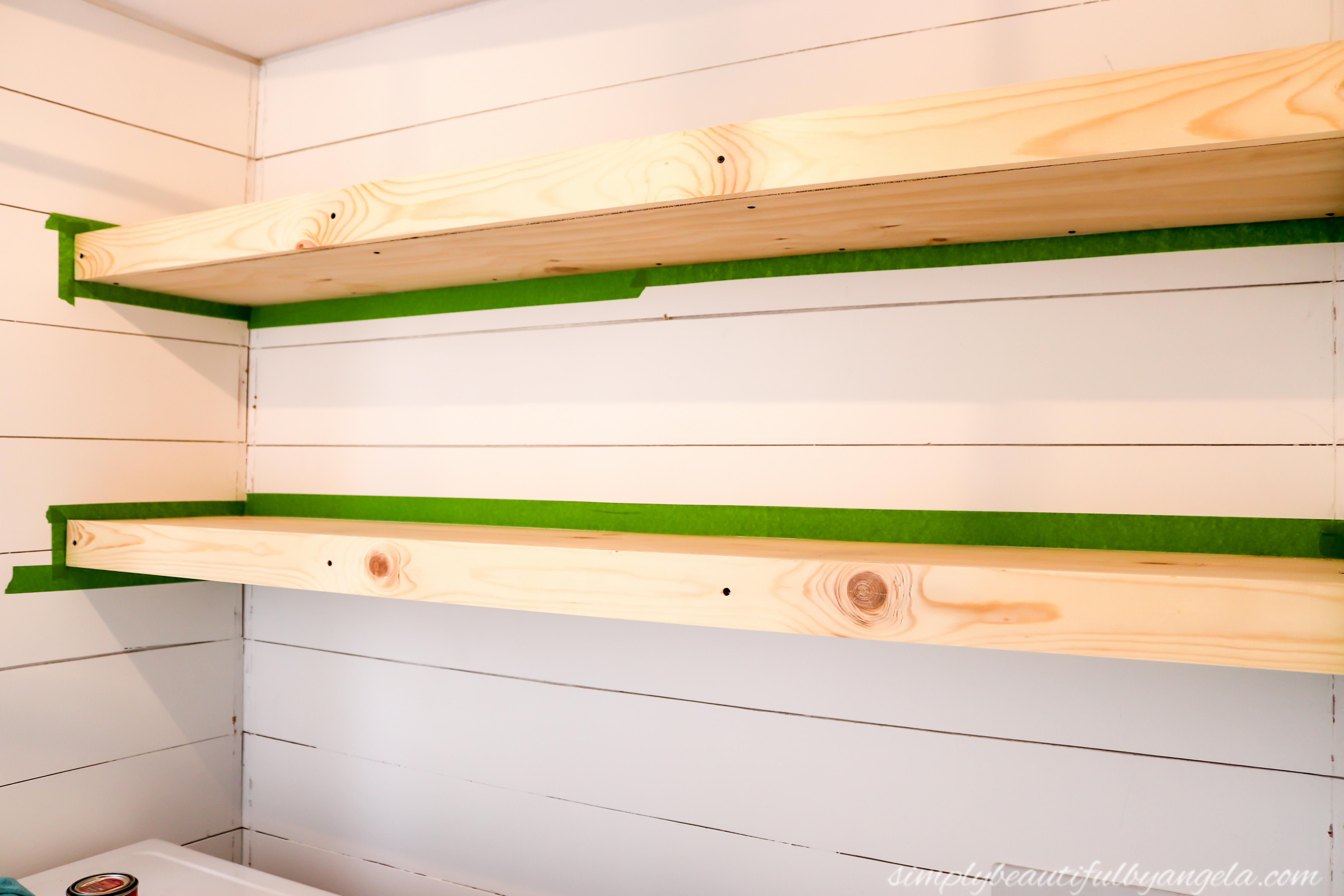 Diy Rustic Farmhouse Laundry Room Shelves Simply Beautiful