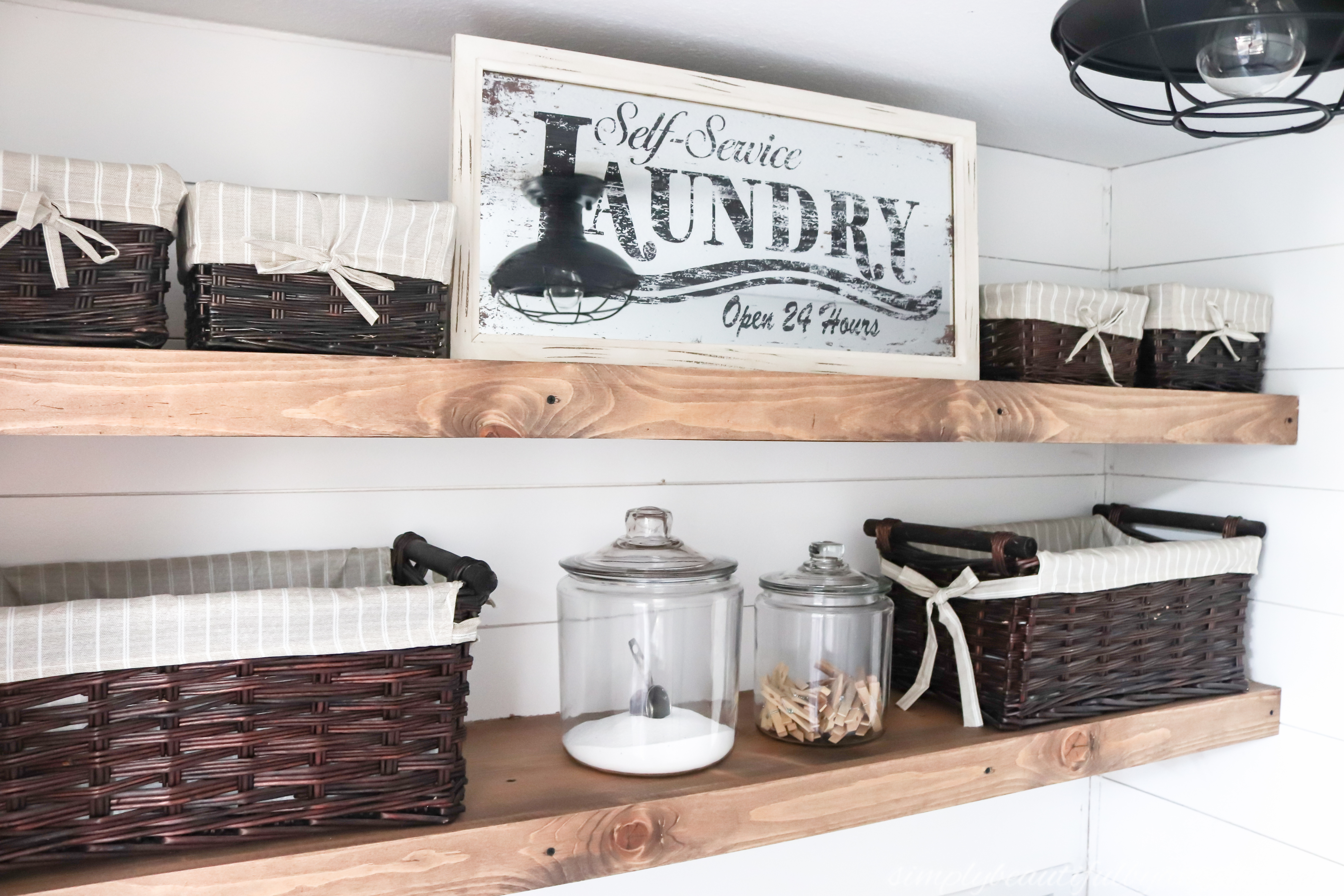 Incredible Diy Rustic Farmhouse Laundry Room Shelves Simply Beautiful Interior Design Ideas Inesswwsoteloinfo