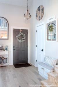 Installing A Slab Door + A Front Door Makeover