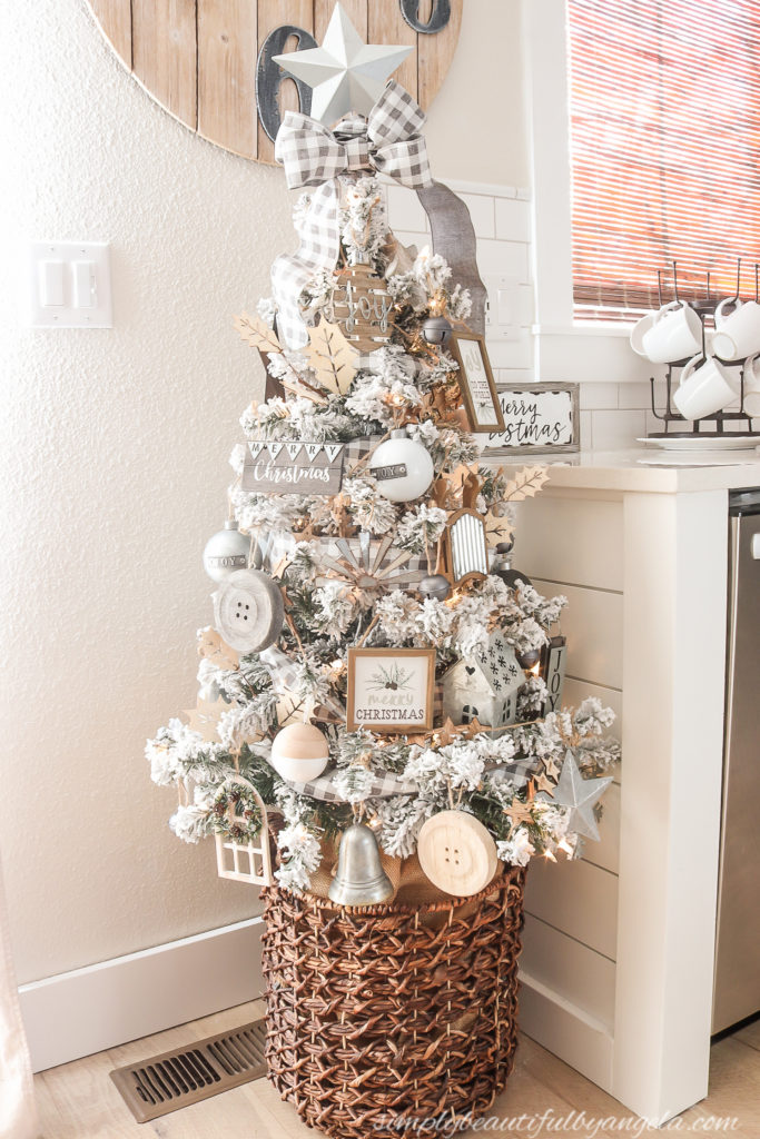 A Farmhouse Style Christmas Tree Simply Beautiful By Angela