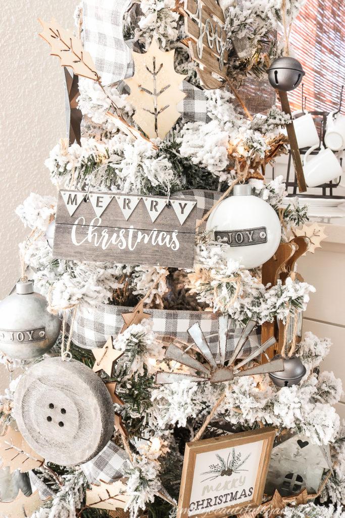 A Farmhouse Style Christmas Tree Simply Beautiful By Angela